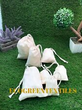 200 (3x5) Original Cotton Muslin Drawstring Bags Soap ~Premium Quality Bags~