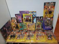 HUGE Vintage Lot 11 HERCULES Xena Action figures calendar, magazines, toys, 90s