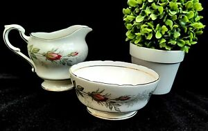 Vintage Pair of Paragon Bridal Rose Side Plates c1950 Floral Pattern in Good Condition