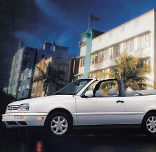 VW Golf Cabrio 4 IV Jetta Passat B4 Prospekt Brochure US USA America 1997 74