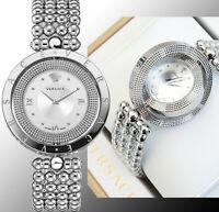Versace Damenuhr Uhr VE7900520 EON Lünette drehbar IP-Silber SWISS MADE neu