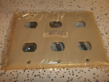 92023 Interchangeable Ivory Plastic Wallplate 6 Opening  3 Gang  Arrow Hart
