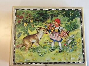 Vintage Block Picture Puzzle Grimm's Tales, by Herbart Spiele, West Germany