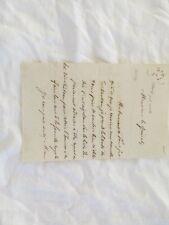 lettre de Clary francois jean neveu des soeurs cary 1814 1889
