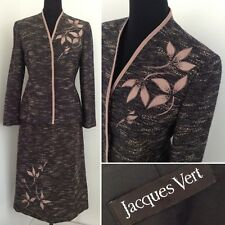 Jacques Vert Women 10 (fits 12) Outfit Skirt Jacket Suit Wedding Occasion Office