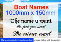 2 x Boat Stickers, Boat Names, Decals 1000mm wide