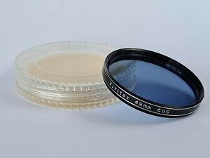 Vivitar 49mm 80C Blue Filter With Keeper Case, Excellent Condition