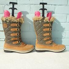 Sorel Leather Snow Boots Size Uk 6.5 Womens Waterproof Lace up Brown Boots