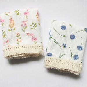 Cotton Tassels Soft Baby Blankets Newborn Muslin Swaddle Wrap Towel Bath Gauze
