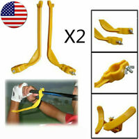 Golf Swing Beginner Practice Trainer Guide Gesture Alignment Training Aid X2 US