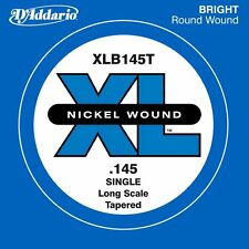 D'ADDARIO XLB145T SINGLE LOW 'B' NICKEL BASS STRING - .145 GAUGE, TAPERED