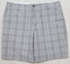 "Dockers Gray Dress Shorts Flat Front 38"" x 9.5"" XL Men's Extra Large Cotton Man"