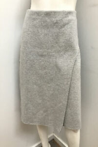 As new! COUNTRY ROAD grey marle ponte wrap look skirt ~ sz L 14
