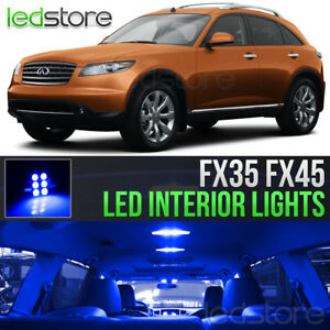 Blue Interior LED Lights Bulbs Package Kit For 2003-2008 Infiniti FX35 FX45