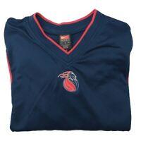 Vintage Nike Men's Large Blue Detroit Pistons Warm Up Shootaround Shirt NBA