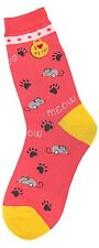 I Luv My Cat Foot Traffic Trouser Crew Socks New Women's Size 9-11 Meow Fashion