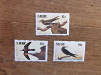 NAURU 1985 BIRDS 3 DIFFERENT MINT STAMPS