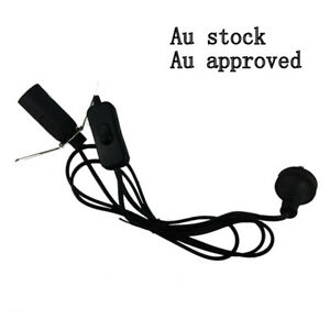 Free E14 15w globe 1 x black Salt Lamp power cord Au approved 1.8M