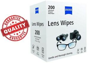 ZEISS Optical Lens Cleaning Wipes for Glasses Camera Screens Laptop Pack of 200
