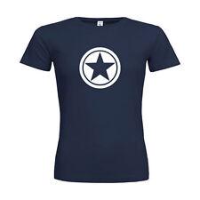 Damen-T-Shirts mit Rundhals-Ausschnitt in Größe 2XL Stern-Schliffform