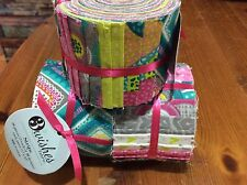 """Jelly roll, 20 x 2.5"""" wide strips of 100% cotton craft fabric - 2 strips of each"""