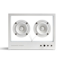 Small Transparent Speaker in White