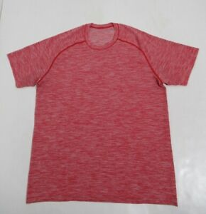 Lululemon Metal Vent Tech Short Sleeve Game Day Red / White Size L Stretch