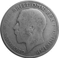 1921 ONE FLORIN/TWO SHILLING - Silver Coin - King George V - Great Britain  #P54