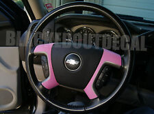 07-13  GMC / Chevy PINK Carbon Fiber Steering Wheel Spoke Overlay Decal Cover