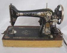 Singer Model 66-1 1911 Red Eye sewing machine & case  #G1212307  Needs Work