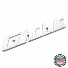 For Maserati Ghibli Chrome Trunk Lid Nameplate Logo Emblem Badges Sport OEM