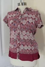 WHITE STUFF Cotton Short Sleeve V Neck Women's Tops & Shirts