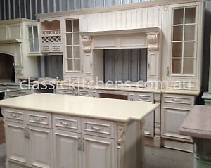 French Provincial style Kitchen -Traditional federation Oak stress wash finish