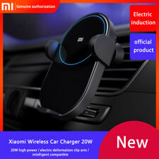 Xiaomi Wireless Car Charger Phone Holder Auto Pinch 2.5D Qi Fast Charge Max 20W