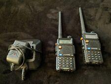 2 Baofeng UV-5R UHF VHF Dual Band Two Way Ham Radio Walkie Talkie