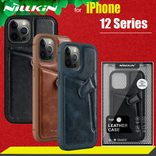 For iPhone 12 / 12 Pro Max Leather Back Case Wallet Card Holder Shockproof Cover