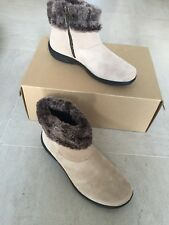 Ladies Romance Soft Suede Hotter Ankle Boots Size 5.5 New