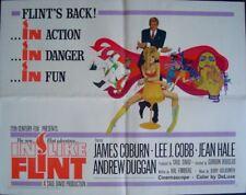 IN LIKE FLINT half sheet movie poster 22x28 JAMES COBURN BOB PEAK 1966