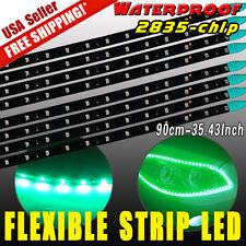 """8pcs 35"""" Green Flexible LED Strip Underbody Light for Car Motor Truck Decor 12V"""