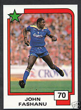 PANINI CALCIO CARD - 1988 SUPERSTARS CALCIO-N. 70-John Fashanu-Wimbledon
