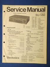 TECHNICS SU-V60 INT AMP SERVICE MANUAL ORIGINAL FACTORY ISSUE THE REAL THING