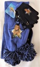 NWT Disney Hannah Montana Girls Scarf & Glove 2 Piece Set-Purple & Black