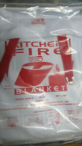 Fire Blanket in convenient holder for mounting in kitchen cabinet