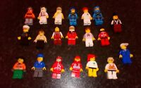 SET OF 20 GENUINE LEGO  MINIFIGS NICE SELECTION COMPLETE PILOT ADMIRAL COP  HATS