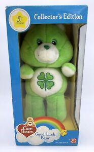 GOOD LUCK CARE BEAR 20th Anniversary Collector's Edition