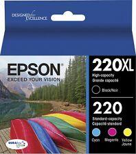 4-PACK Epson GENUINE 220XL Black & 220 Color Ink (NO RETAIL BOX) WF-2750 WF-2760