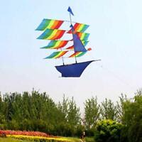 3D Huge Rainbow Sailboat Stereo Kite Outdoor Sports Children Kids Game Activity