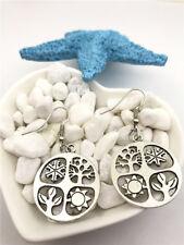 Tree, Flower, Sun Earrings Tibet silver Charms Earrings Charm Earrings for Her