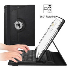 360 Rotating Wireless Bluetooth Keyboard Case Cover For iPad 8th Gen 10.2