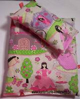 Puppenwagen-Kissen Puppenbett-Kissen Prinzessin 2-tlg. Puppenwagengarnitur
